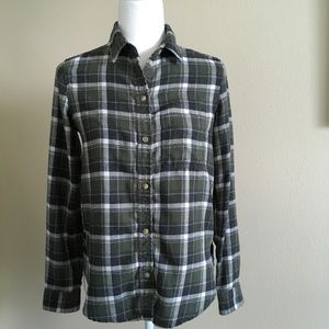 American Eagle Green Plaid Flannel